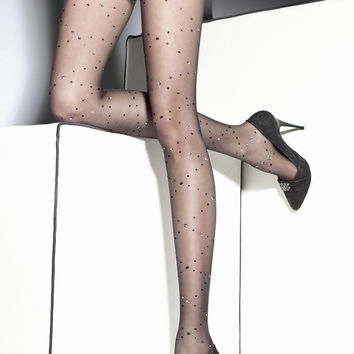 Lorna Patterned Pantyhose