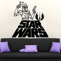 Wall Decal Star Wars Logo Boba Fett Vinyl Sticker Decals Nursery Bedroom C48