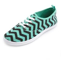 Canvas Chevron Lace-Up Sneaker: Charlotte Russe