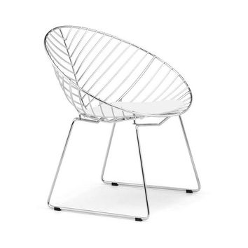 Cupped Leaf Dining Seat in Chrome