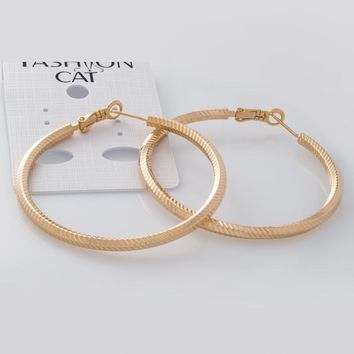 Filigree Hoop Earrings in 16k Gold Plated