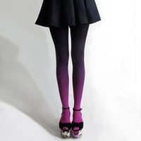 bzr Ombré tights in Fuschian Violet by BZRshop on Etsy