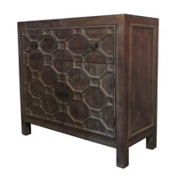 Silvestro Small Cabinet 1 Drawer + 2 Doors, Antique Brown