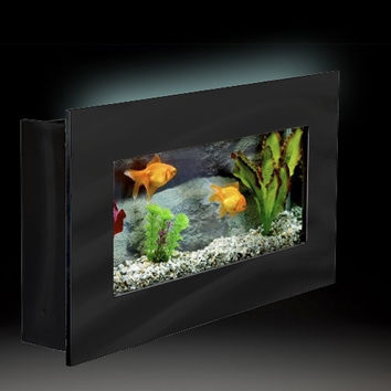 Aussie Aquariums Wall Mounted Aquarium - Mini Black