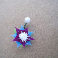 Beatiful Flower Belly Button Ring, Belly Button Ring Jewelry.