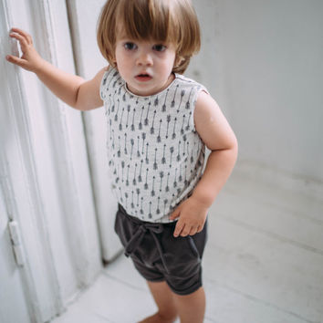 Boys or girls - baby, toddler or kid t-shirt tank top with arrows