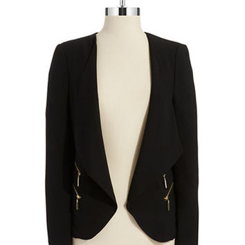 Ivanka Trump Draped Flyaway Jacket