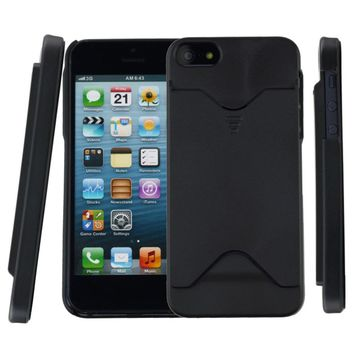 in stock ! Hard Back Case Cover With ID Credit Card Slot Holder For  iPhone 5 5S Drop Shipping