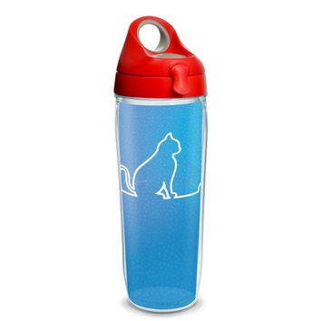 Tervis Project Paws Cat Heartbeat with red lid, 24 oz. water bottle