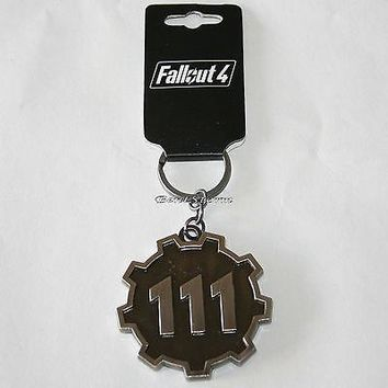 Licensed cool NEW 2016 FALLOUT 4 Video Game Metal Key Ring Chain Keychain Vault 111 logo