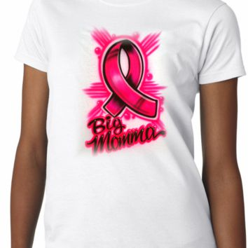 Airbrushed Cancer Ribbon Shirt
