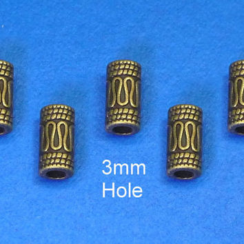 4x(3mm hole)  DREADLOCK BEADS,Beard ring, Hair Beads,viking beard ring,dreadlock bead sets,Dreadlock Jewelry,Hair Accessories,