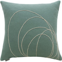 Bholu Rassi Pillow in sage/cream