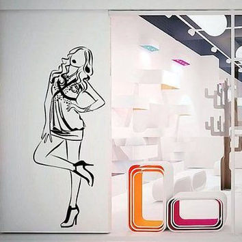 Wall Mural Art Decor Vinyl Interior Decorative Fashion Pencil Sketch 08 V51