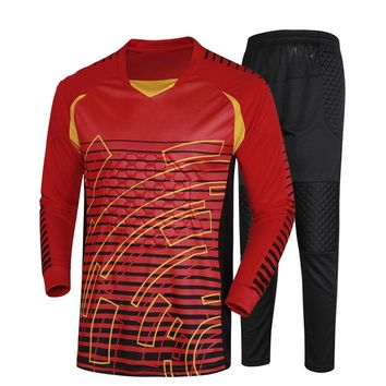 Men Long Sleeve goalkeeper uniforms Football Jerseys Survetement Football Soccer Jerseys 2016 2017 Training Exercise Sweaters