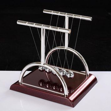 ICIKGQ8 new design t newtons cradle metal balance pendulum ball physics science desk model toy educational teaching accessory gift 3size