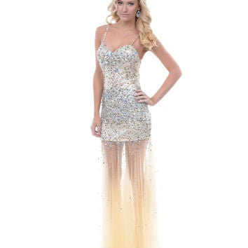 Taupe & Silver Sequin & Tulle Sweetheart Prom Gown - Unique Vintage - Prom dresses, retro dresses, retro swimsuits.