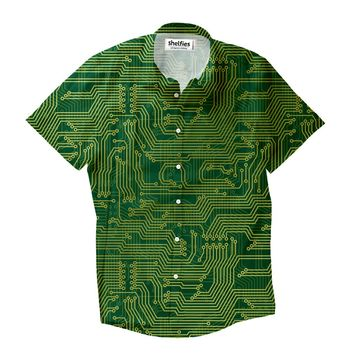 Microchip Short-Sleeve Button Down Shirt