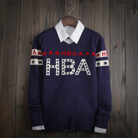 Casual Vintage Men's Comfortable HBA Knitted Sweater