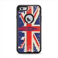 The Vintage London England Flag Apple iPhone 6 Plus Otterbox Defender Case Skin Set