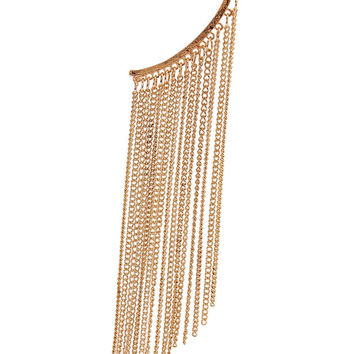 Golden Chain Fringe Ear Cuff