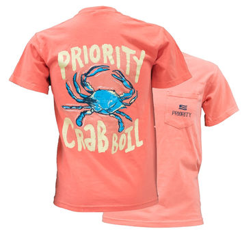 Southern Couture High Priority Crab Boil Country Pocket Unisex Bright T Shirt
