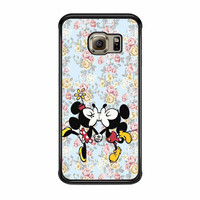 Mickey Kiss Minnie Disney Flowers Samsung Galaxy S6 Edge Case