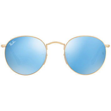 Ray-Ban Sunglasses, RB3447N 47 ROUND METAL | macys.com