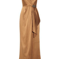 Kay Unger Embellished silk-satin gown - 70% Off Now at THE OUTNET