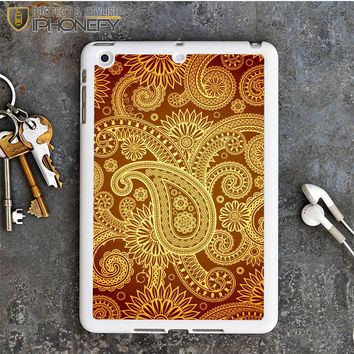 Red Gold Damask Pattern iPad Mini Case iPhonefy