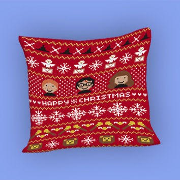 Christmas Sweater for Pillow Case, Pillow Cover, Custom Pillow Case **