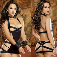 Black Women's Sexy Lingerie Prisoner Babydoll Sleepwear Underwear Dress G String