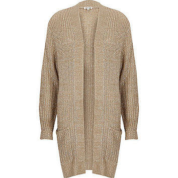 Dark nude chunky knit cardigan