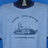 70s New Orleans River Boat Ringer t-shirt Extra Large