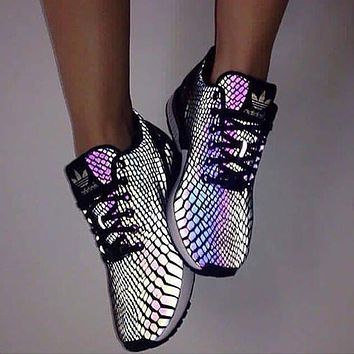 adidas trending vogue 3m reflective chameleon casual sports shoes