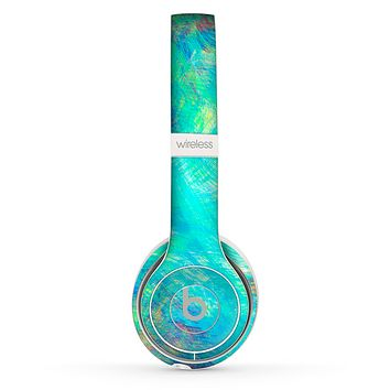 The Vibrant Colored Messy Painted Canvas Skin Set for the Beats by Dre Solo 2 Wireless Headphones