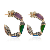 Scarab Hoop Earrings | Moda Operandi
