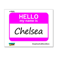 Chelsea Hello My Name Is Sticker