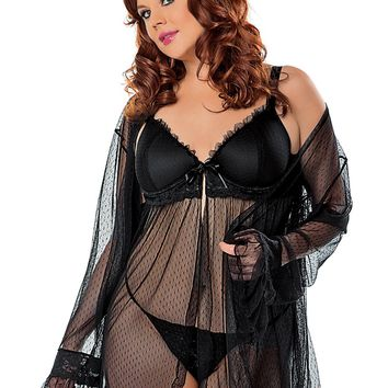 Plus Size Exquisite Lingerie Set