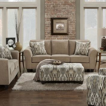 5000 - The Chic Living Room Set - Mocha