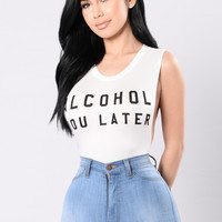 Alcohol You Later Bodysuit - Ivory