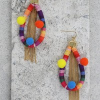 Festival Frenzy Earrings in Rainbow and Gold