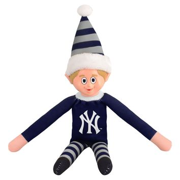 New York Yankees NY Holiday Christmas Team Elf with Santa Hat n Shirt MLB