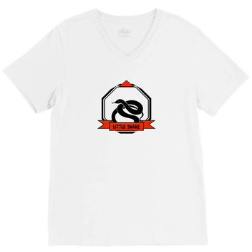 LITTLE BOY SNAKE V-Neck Tee