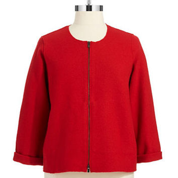 Eileen Fisher Plus Plus Boiled Wool Jacket