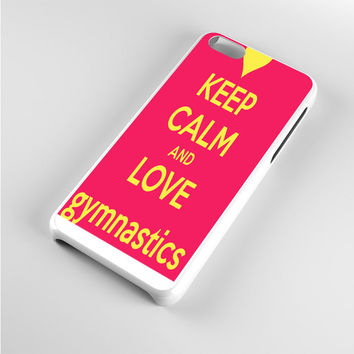 keep calm and love gymnastics iPhone 5c Case