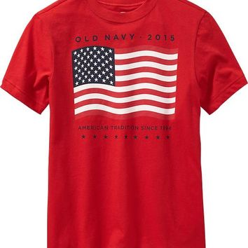Old Navy Boys 2015 Flag Tees