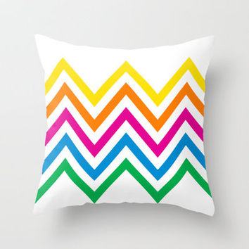 Chevron Sherbet Throw Pillow by Shawn Terry King