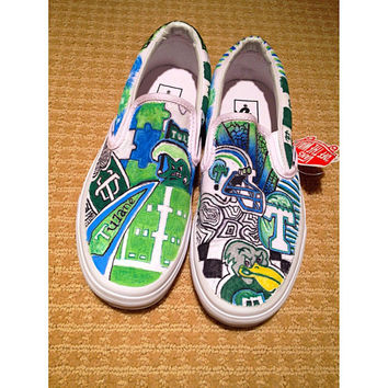 Customized Tulane Vans
