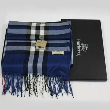 Burberry Women Trending Accessories Wool Sunscreen Cape Scarf Scarves Blue I